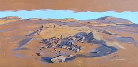 Ricardo Wiesse. Panorama, óleo sobre tela, 100 x 200 cms. 2016
