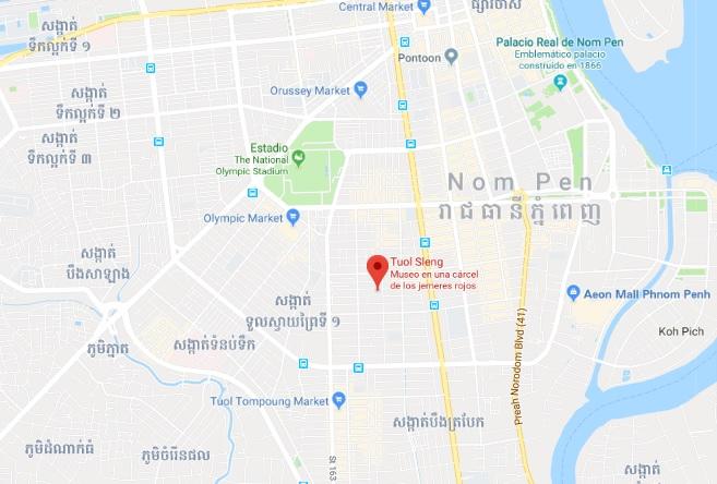 Ubicación museo Tuol Sleng