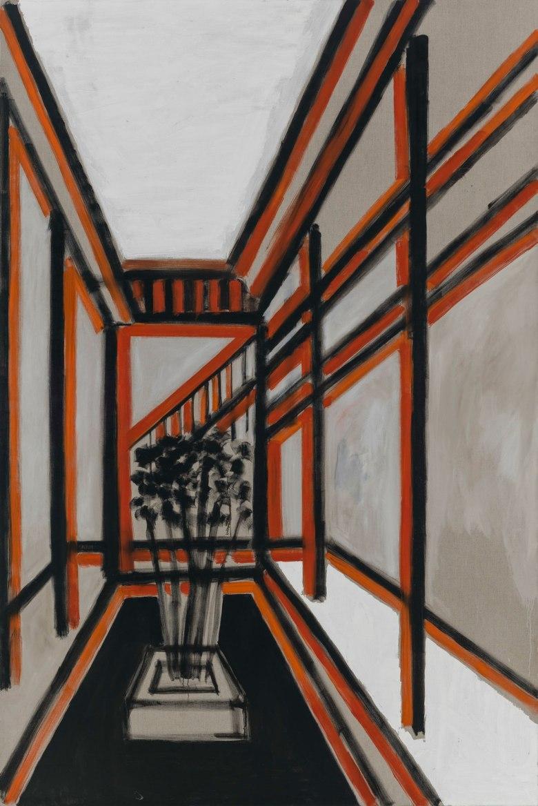 A-Corridor-for-the-Classroom《教室的走廊》,2014-2015,布面油画,280×200-cm (2)