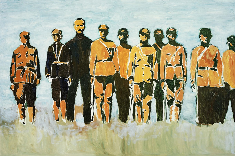 There-is-an-America《这里有美国人》,2006,布面油画,200-x-300-cm (1)